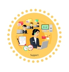 Support concept icon flat design vector