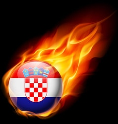 Round glossy icon of croatia vector