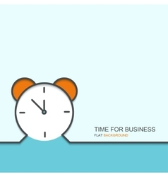 Outline flat design of time for business vector