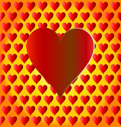 Heart love shape red symbol day design valentine r vector