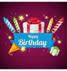 Birthday card flyer or placard vector