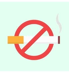 Flat no smoking icon vector