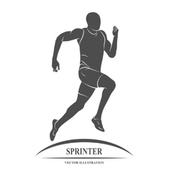 Running sprinter athlete vector