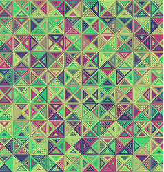 Abstract striped triangle mosaic background design vector
