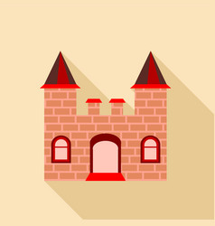 ancient brick castle icon flat style vector image
