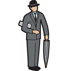Banker vector image