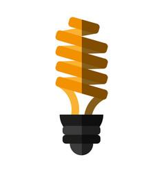 bulb cartoon flat shadow vector image vector image