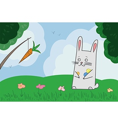 Bunny hunting vector image