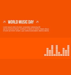 Celebration music day background style vector