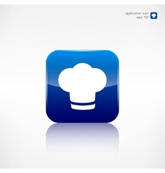 Chef cap icon cooking cap vector