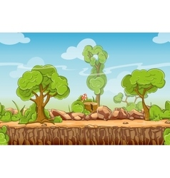 Country seamless landscape in cartoon style vector image vector image