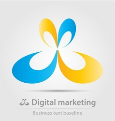 Digital marketing business icon vector image vector image