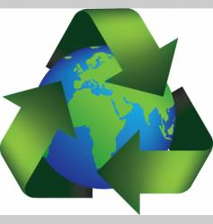 earth recycle vector image