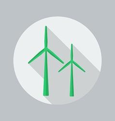 Eco Flat Icon Wind Energy vector image