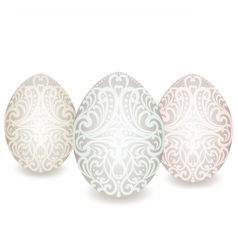 Happy easter ornamented classic eggs vector