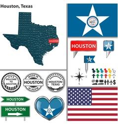Houston texas set vector