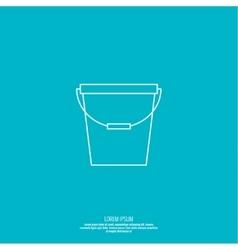 icon bucket vector image