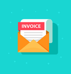 invoice icon email message received with vector image vector image