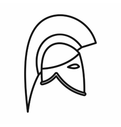 Knight helmet icon outline style vector image