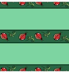Ladybug Pattern vector image
