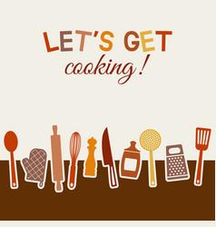 menu or recipe book design set of kitchen vector image