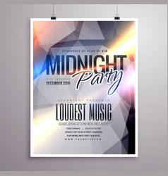 Midnight music party flyer brochure template vector