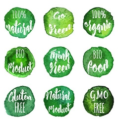 Natural organic badges and labels vector
