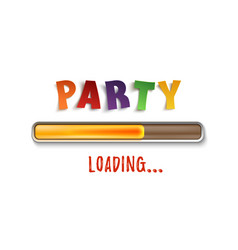 party loading poster template isolated on white vector image vector image