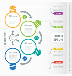 prpart of the report with icons set infographic vector image