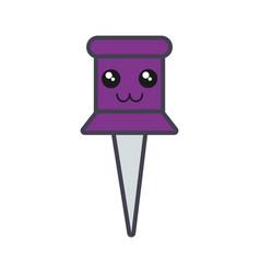 push pin icon vector image vector image