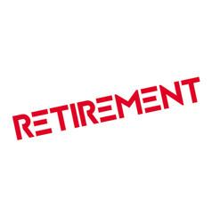 Retirement rubber stamp vector