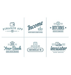 Set of Finance Elements and Money Business as can vector image