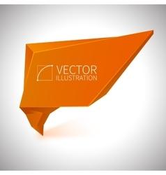 Shiny orange banner vector image vector image