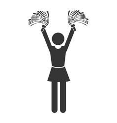 silhouette cheerleader girl isolated vector image