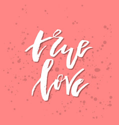 True love - inspirational valentines day romantic vector
