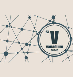 Vanadium chemical element vector