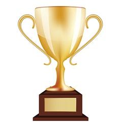 Gold Winner Trophy vector image