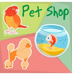 Zooshop vector image