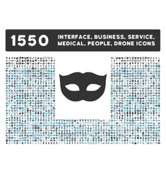 Privacy mask icon and more interface business vector