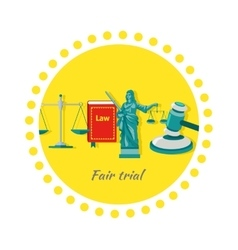 Fair trial concept icon flat design vector