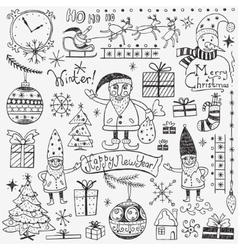 Winter holidays - doodles set 2 vector