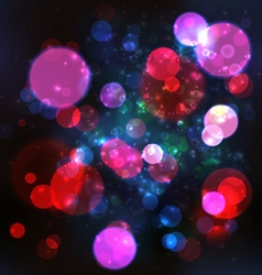 Magic lights bokeh blurred background vector