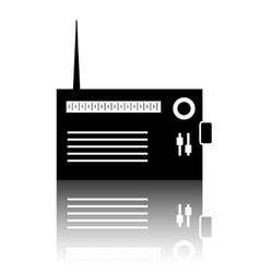 Radio silhuette icon vector