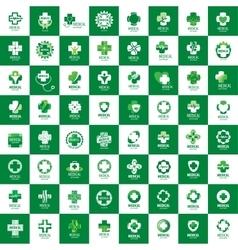 logo medical vector image