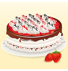 Cake and mildberry vector