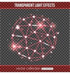 Abstract sphere with lights effect over vector