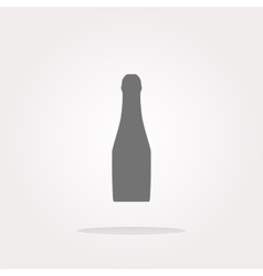 Bottle with drink - icon glossy button vector