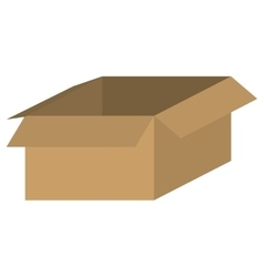 Brown box icon vector