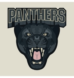 Angry panther sport team emblem vector