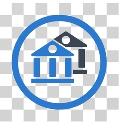 Banks Flat Rounded Icon vector image vector image
